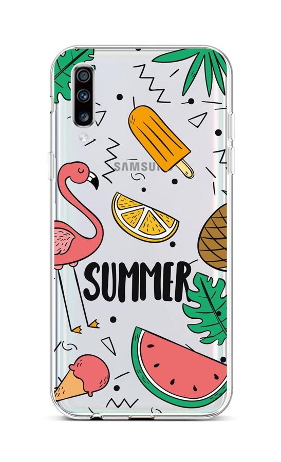 Kryt TopQ Samsung A70 silikon Summer 42495 (pouzdro neboli obal na mobil Samsung A70)
