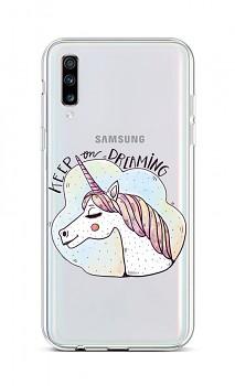 Zadní silikonový kryt na Samsung A70 Dreaming