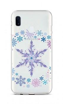 Zadní silikonový kryt na Samsung A20e Snowflake
