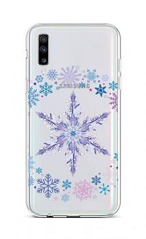 Zadní silikonový kryt na Samsung A70 Snowflake