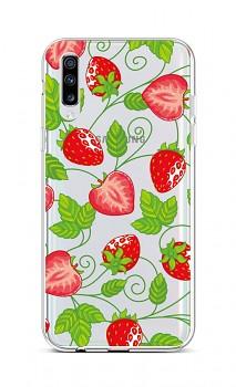 Zadní silikonový kryt na Samsung A70 Strawberries