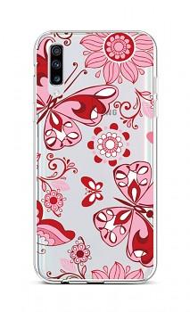 Zadní silikonový kryt na Samsung A70 Pink Butterfly