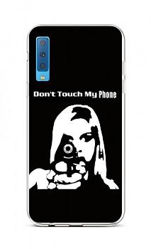 Zadní silikonový kryt na Samsung A7 Don´t Touch Gun