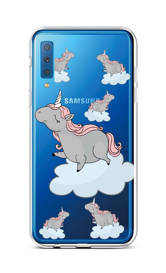 Zadní silikonový kryt na Samsung A7 Grey Unicorns