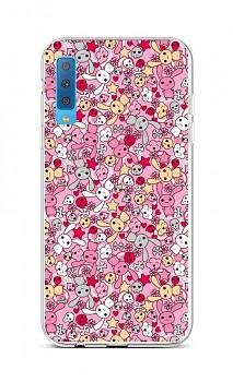 Zadní silikonový kryt na Samsung A7 Pink Bunnies