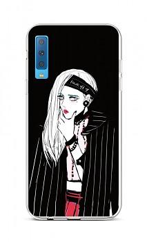 Zadní silikonový kryt na Samsung A7 Dark Girl