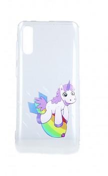 Zadní silikonový kryt na Samsung A70 Flying Unicorn