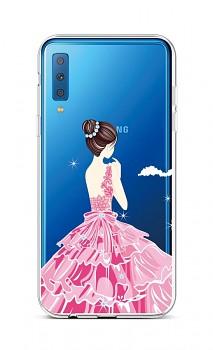 Zadní silikonový kryt na Samsung A7 Pink Princess