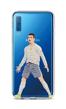 Zadní silikonový kryt na Samsung A7 Fotbalista