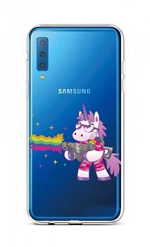 Zadní silikonový kryt na Samsung A7 Rainbow Gun