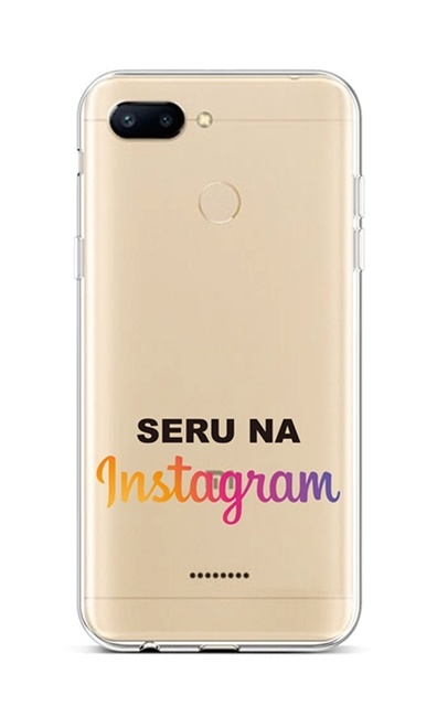 Kryt TopQ Xiaomi Redmi 6 silikon Instagram 42889 (pouzdro neboli obal na mobil Xiaomi Redmi 6)