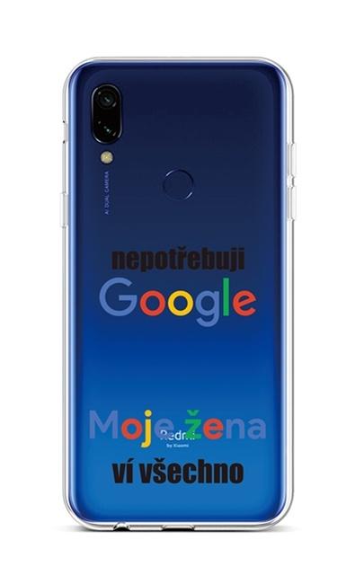 Kryt TopQ Xiaomi Redmi 7 silikon Google 42916 (pouzdro neboli obal na mobil Xiaomi Redmi 7)