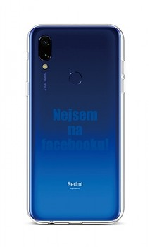 Zadní silikonový kryt na Xiaomi Redmi 7 Nejsem na Facebooku