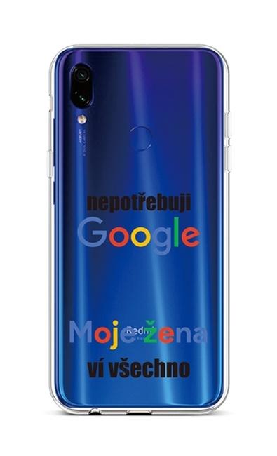 Kryt TopQ Xiaomi Redmi Note 7 silikon Google 42925 (pouzdro neboli obal na mobil Xiaomi Redmi Note 7)