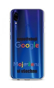 Zadní silikonový kryt na Xiaomi Redmi Note 7 Google