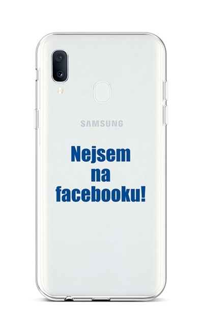 Kryt TopQ Samsung A20e silikon Nejsem na Facebooku 42938 (pouzdro neboli obal na mobil Samsung A20e)