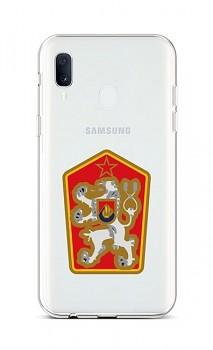 Zadní silikonový kryt na Samsung A20e Státní znak