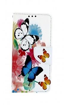 Knížkové pouzdro na Samsung A20e Barevné s motýlky