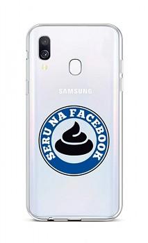 Zadní silikonový kryt na Samsung A40 Facebook