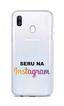 Zadní silikonový kryt na Samsung A40 Instagram