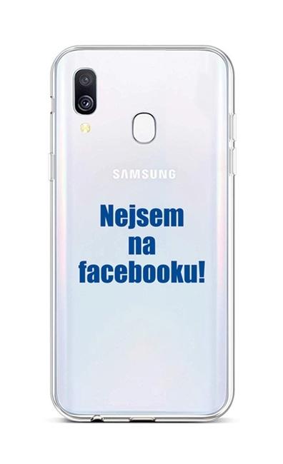 Kryt TopQ Samsung A40 silikon Nejsem na Facebooku 42961 (pouzdro neboli obal na mobil Samsung A40)