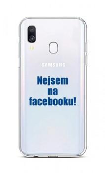 Zadní silikonový kryt na Samsung A40 Nejsem na Facebooku