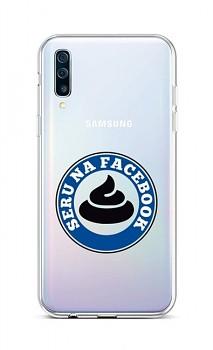 Zadní silikonový kryt na Samsung A50 Facebook