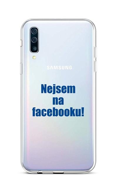 Kryt TopQ Samsung A50 silikon Nejsem na Facebooku 42989 (pouzdro neboli obal na mobil Samsung A50)