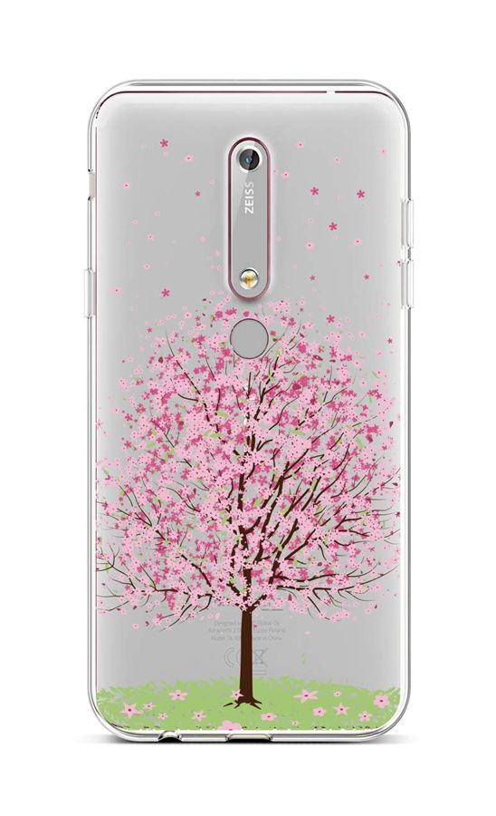 Kryt TopQ Nokia 6.1 silikon Blossom Tree 43457 (pouzdro neboli obal na mobil Nokia 6.1)