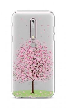Zadní silikonový kryt na Nokia 6.1 Blossom Tree