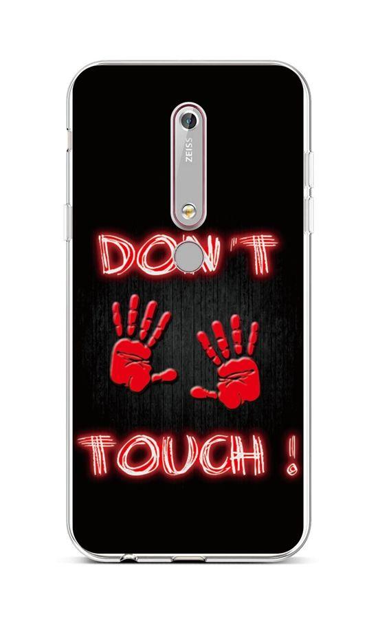 Kryt TopQ Nokia 6.1 silikon Don't Touch Red 43461 (pouzdro neboli obal na mobil Nokia 6.1)