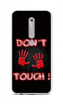 Zadní silikonový kryt na Nokia 6.1 Don't Touch Red