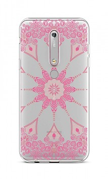 Zadní silikonový kryt na Nokia 6.1 Pink Mandala