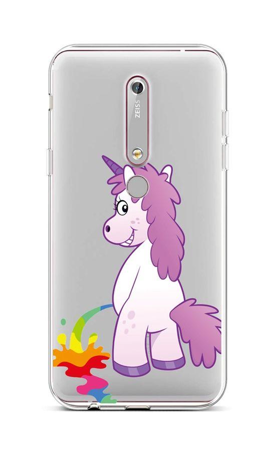 Kryt TopQ Nokia 6.1 silikon Rude Unicorn 43471 (pouzdro neboli obal na mobil Nokia 6.1)