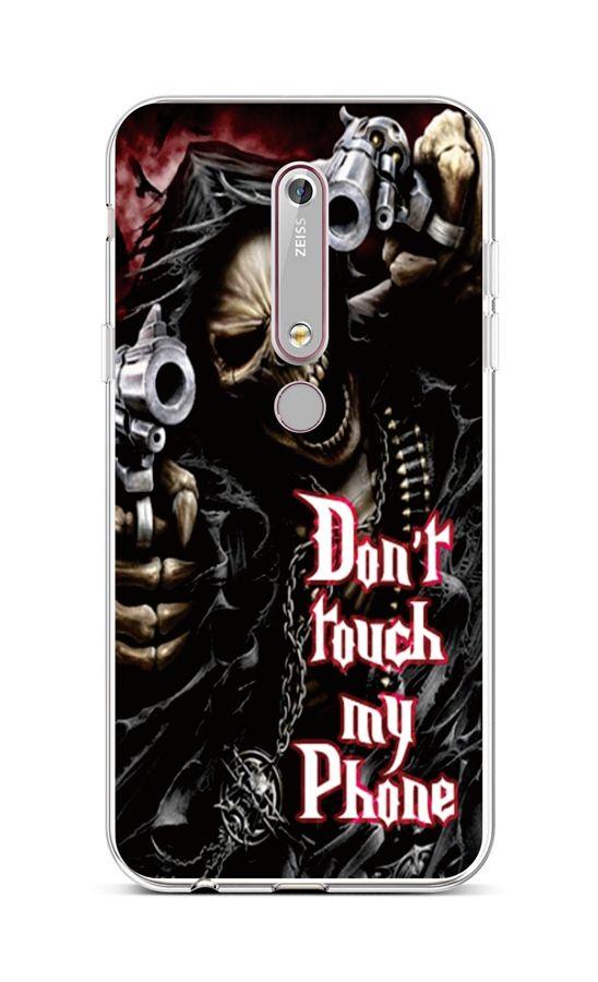 Kryt TopQ Nokia 6.1 silikon Smrťák 43472 (pouzdro neboli obal na mobil Nokia 6.1)
