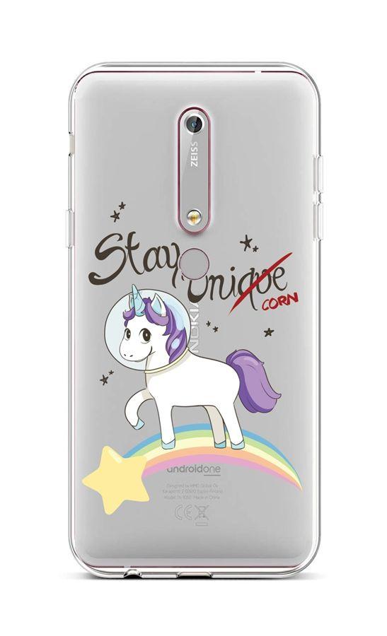 Kryt TopQ Nokia 6.1 silikon Stay Unicorn 43476 (pouzdro neboli obal na mobil Nokia 6.1)