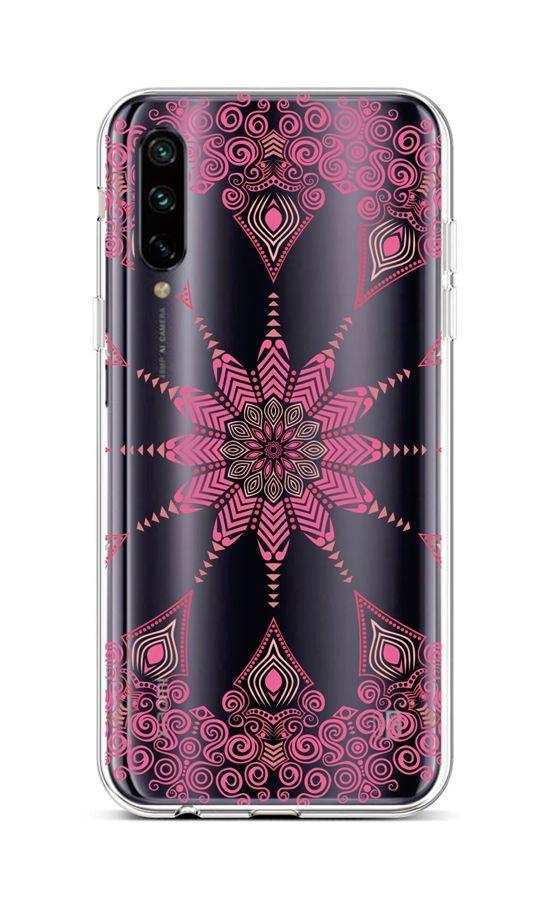 Kryt TopQ Xiaomi Mi A3 silikon Pink Mandala 43495 (pouzdro neboli obal na mobil Xiaomi Mi A3)