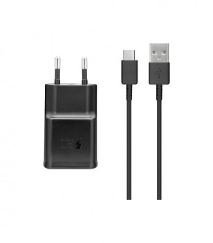 Originální rychlonabíječka Samsung EP-TA200EBE včetně USB-C datového kabelu EP-DG970BBE černá 15W