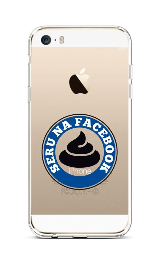 Kryt TopQ iPhone 5 - 5S - SE silikon Facebook 43940 (pouzdro neboli obal na mobil iPhone 5 - 5S - SE)