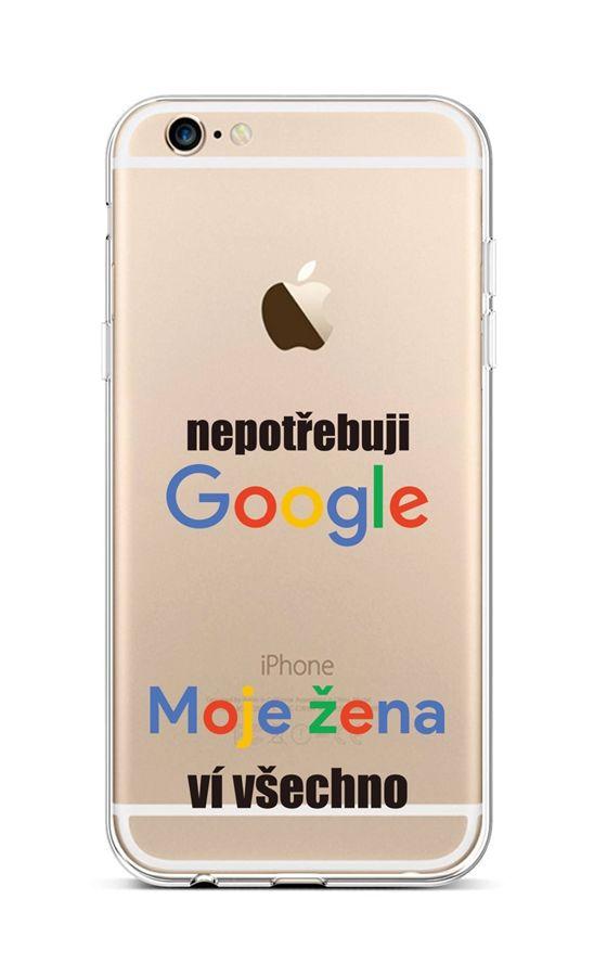 Zadní silikonový kryt na iPhone 6 / 6s Google
