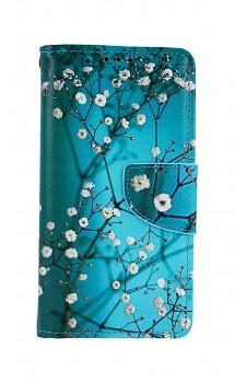 Knížkové pouzdro na Xiaomi Redmi 7A Modré s květy