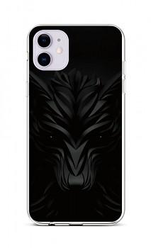 Zadní silikonový kryt na iPhone 11 Černý vlk