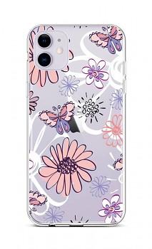 Zadní silikonový kryt na iPhone 11 Flowers