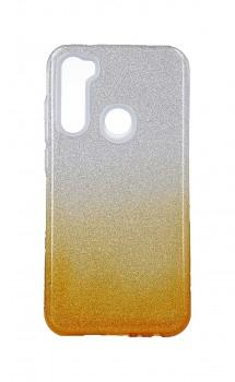 Zadní pevný kryt Forcell na Xiaomi Redmi Note 8 glitter stříbrno-oranžový