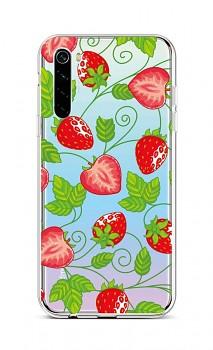 Zadní silikonový kryt na Xiaomi Redmi Note 8 Strawberries