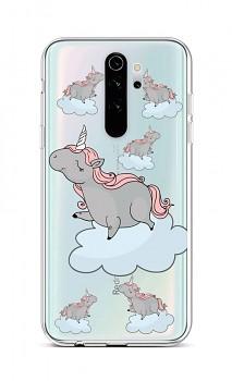Zadní silikonový kryt na Xiaomi Redmi Note 8 Pro Grey Unicorns