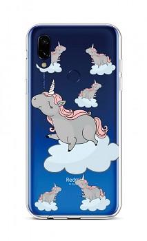 Zadní silikonový kryt na Xiaomi Redmi 7 Grey Unicorns