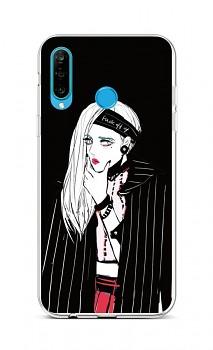 Zadní silikonový kryt na Huawei P30 Lite Dark Girl