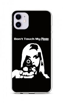 Zadní silikonový kryt na iPhone 11 Don't Touch Gun