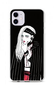 Zadní silikonový kryt na iPhone 11 Dark Girl